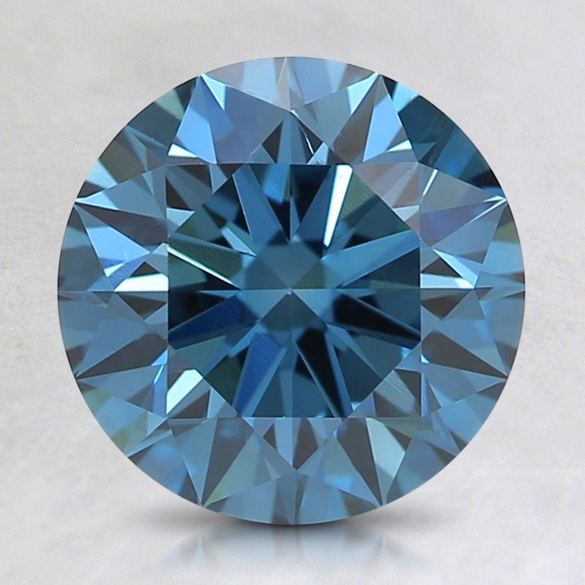2.03 Ct. Fancy Deep Blue Round Lab Created Diamond