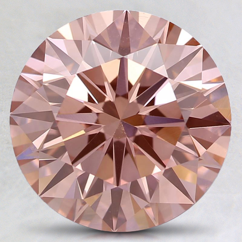 3.01 Ct. Fancy Intense Pink Round Lab Created Diamond