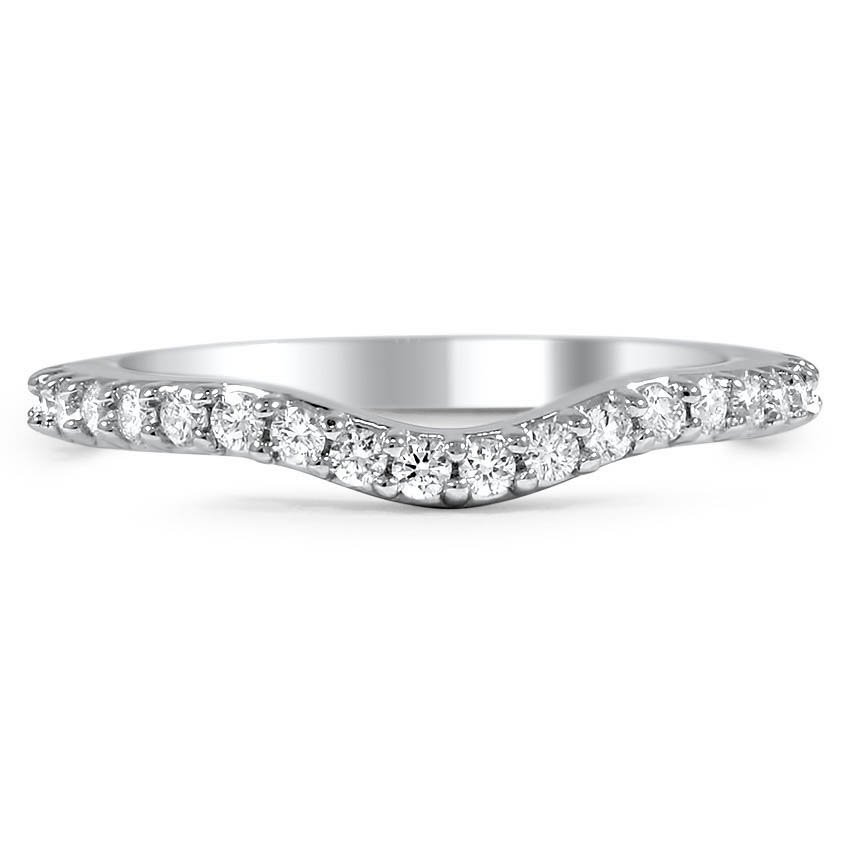 Custom Petite Contoured Diamond Wedding Ring