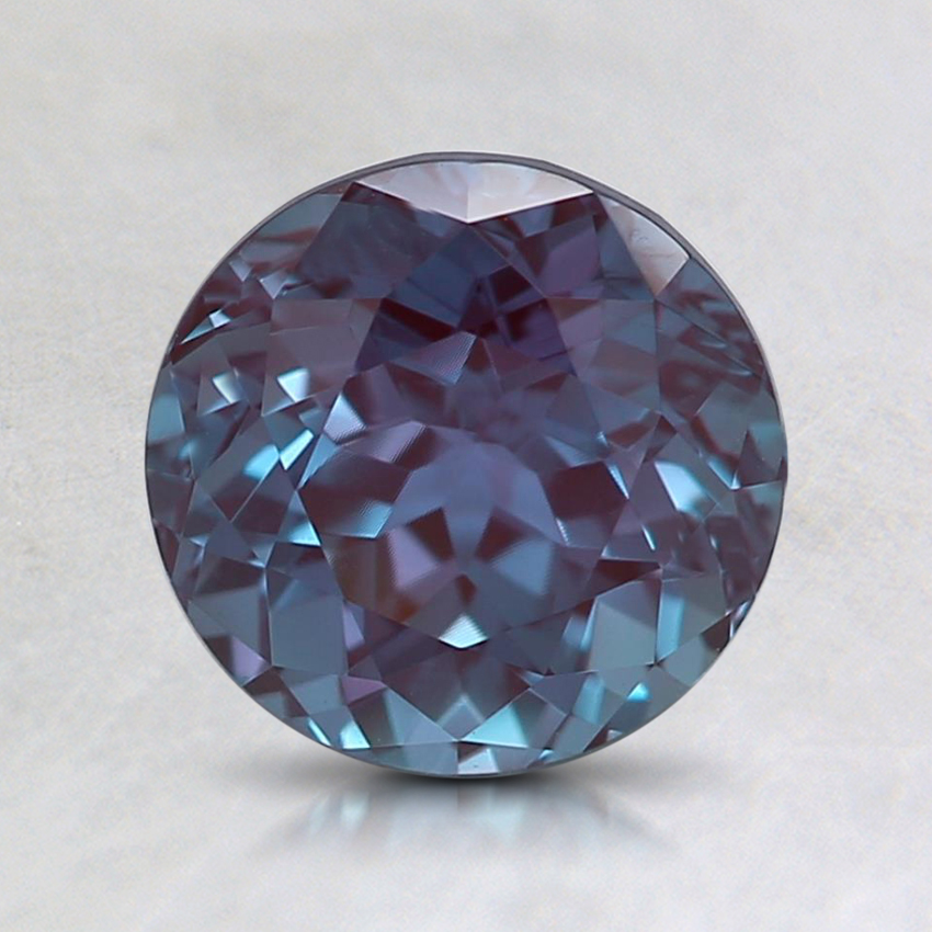 7mm Purple Round Lab Created Alexandrite