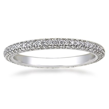 Platinum Allegra Diamond Eternity Ring (over 3/4 ct. tw.), top view