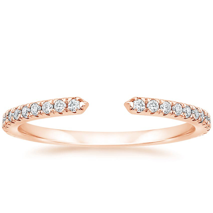 Rose Gold Open Diamond Wedding Ring