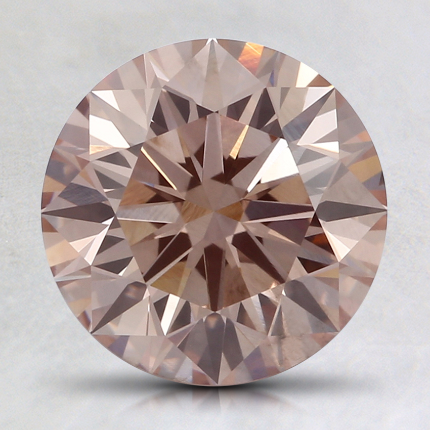 2.06 Ct. Fancy Brownish Pink Round Lab Created Diamond