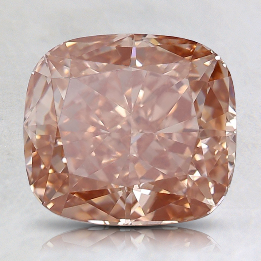 2.19 Ct. Fancy Deep Orangy Pink Cushion Lab Created Diamond