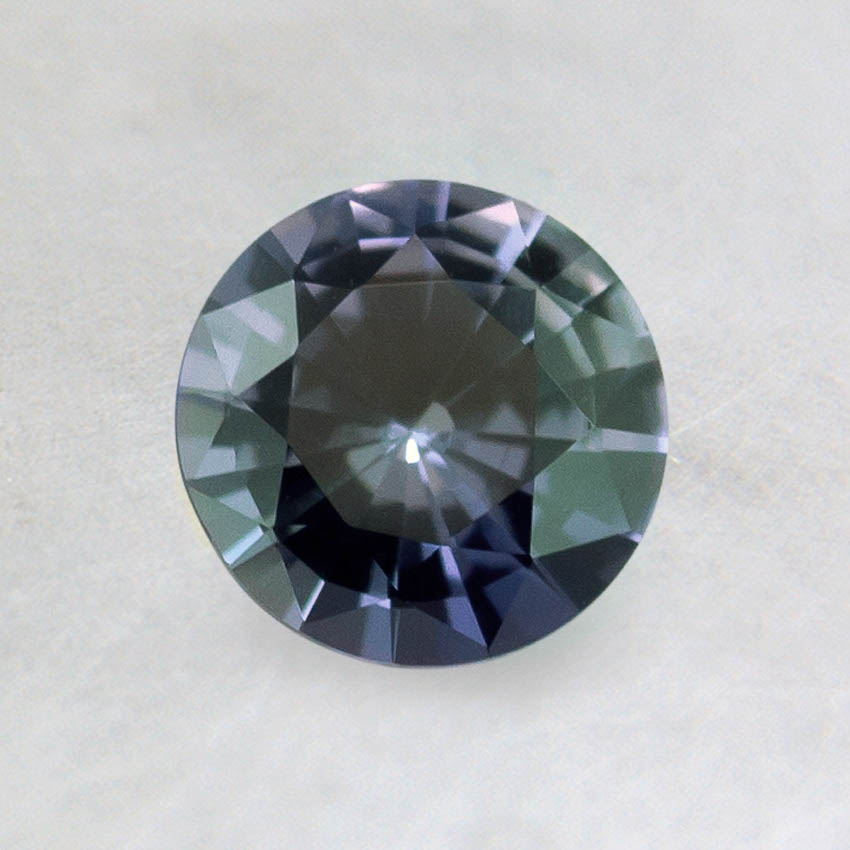 6mm Premium Color Change Blue Round Sapphire, top view