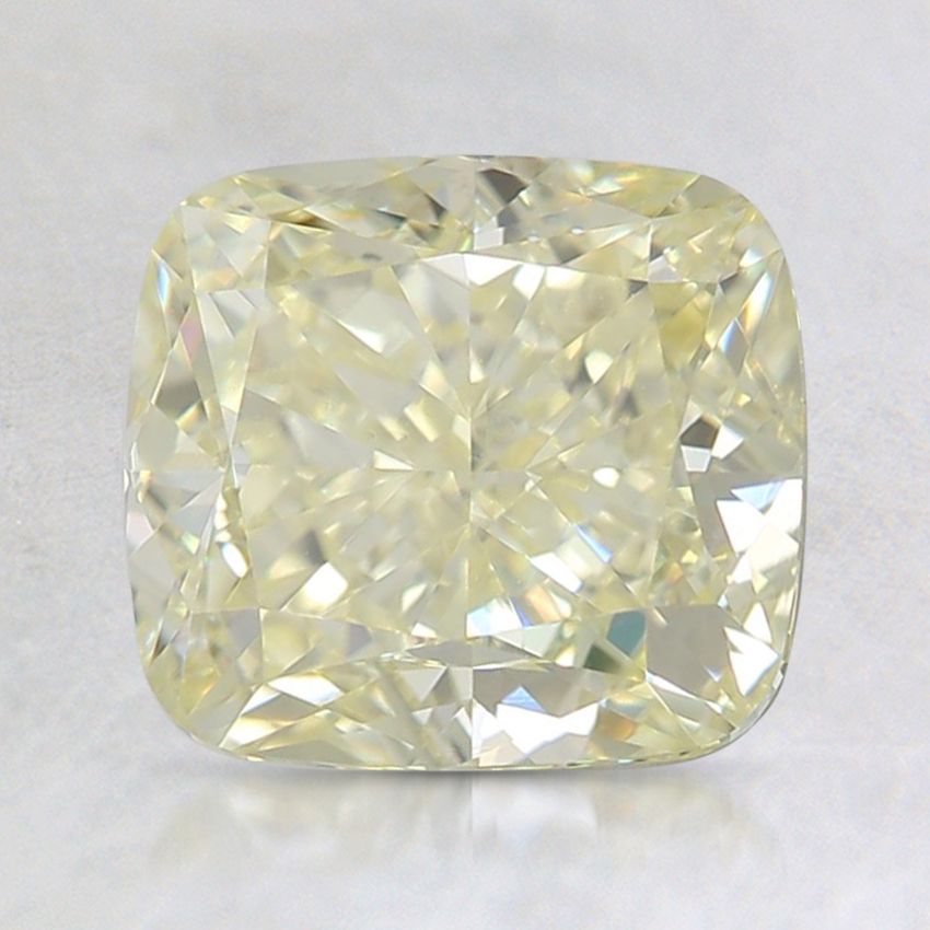 2.26 Ct. Fancy Light Yellow Cushion Diamond