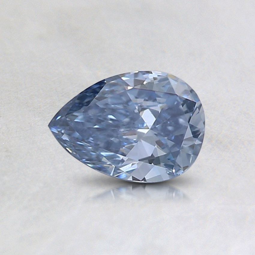 0.41 Ct. Fancy Intense Blue Pear Lab Created Diamond
