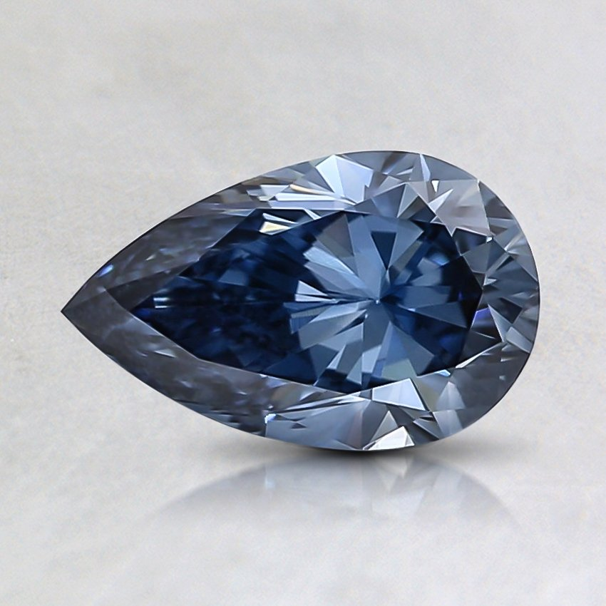 0.82 Ct. Fancy Vivid Blue Pear Lab Created Diamond