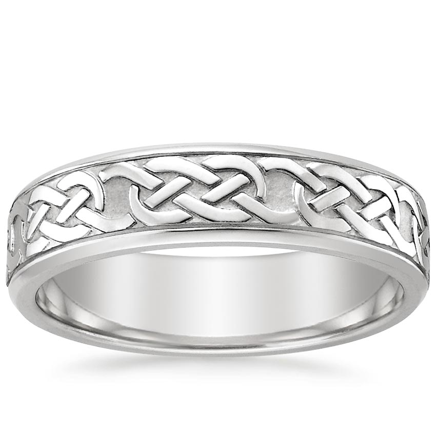 Platinum Celtic Eternity Knot Wedding Ring, top view