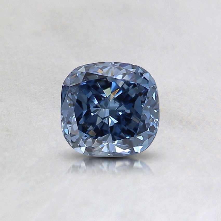 0.44 Ct. Fancy Intense Blue Cushion Lab Created Diamond
