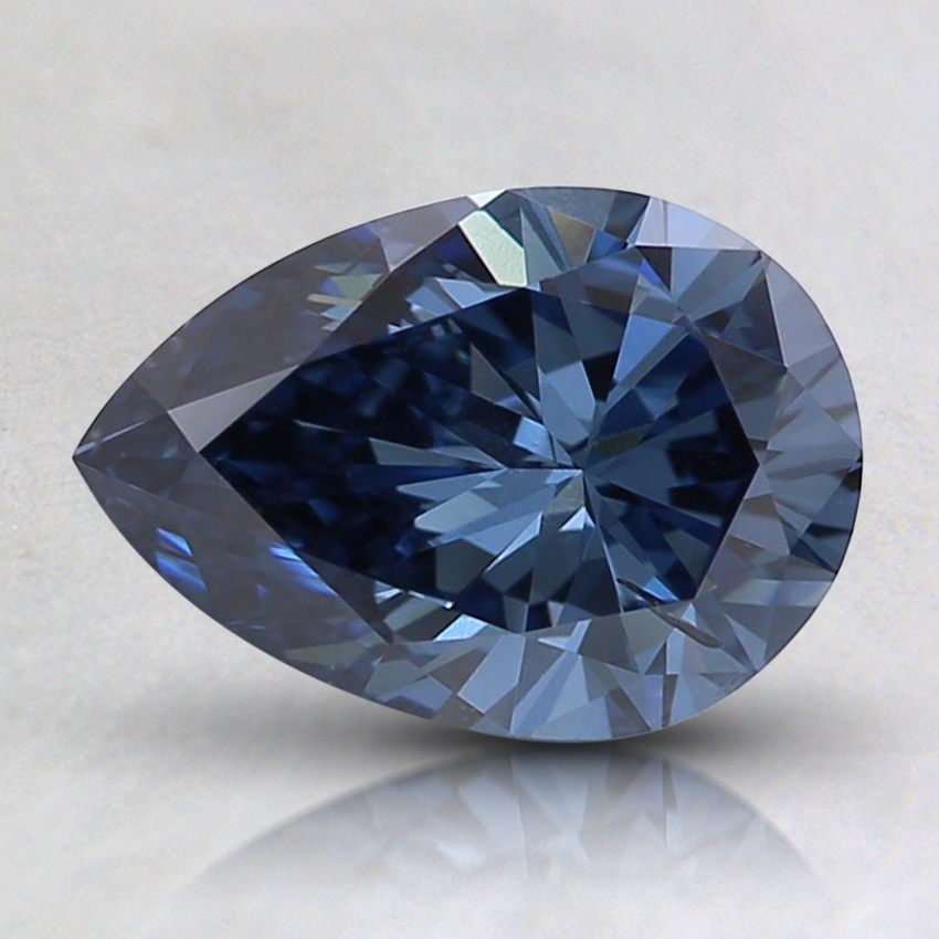 1.06 Ct. Fancy Blue Pear Lab Created Diamond