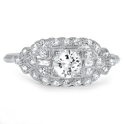The Marisol Ring, top view