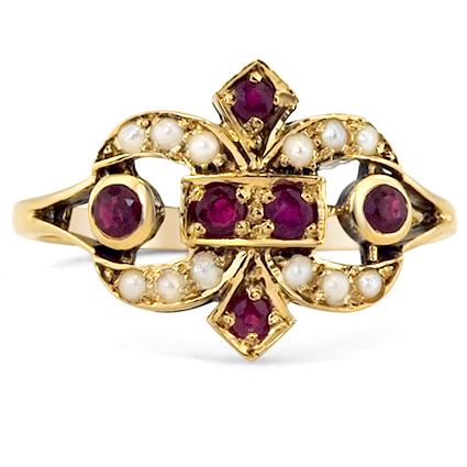 The Rowena Ring, top view