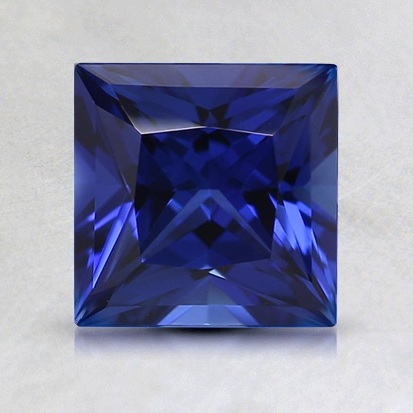 6.5mm Lab Created Blue Princess Sapphire, top view