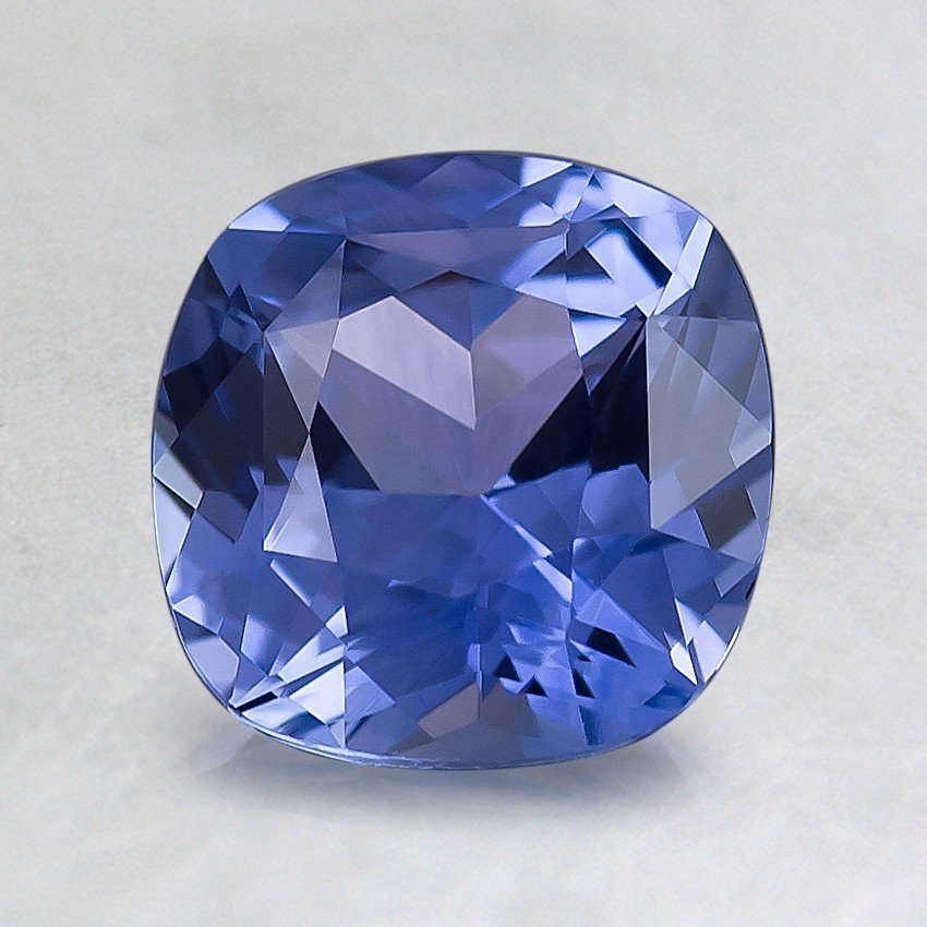 7mm Medium Blue Cushion Sapphire, top view