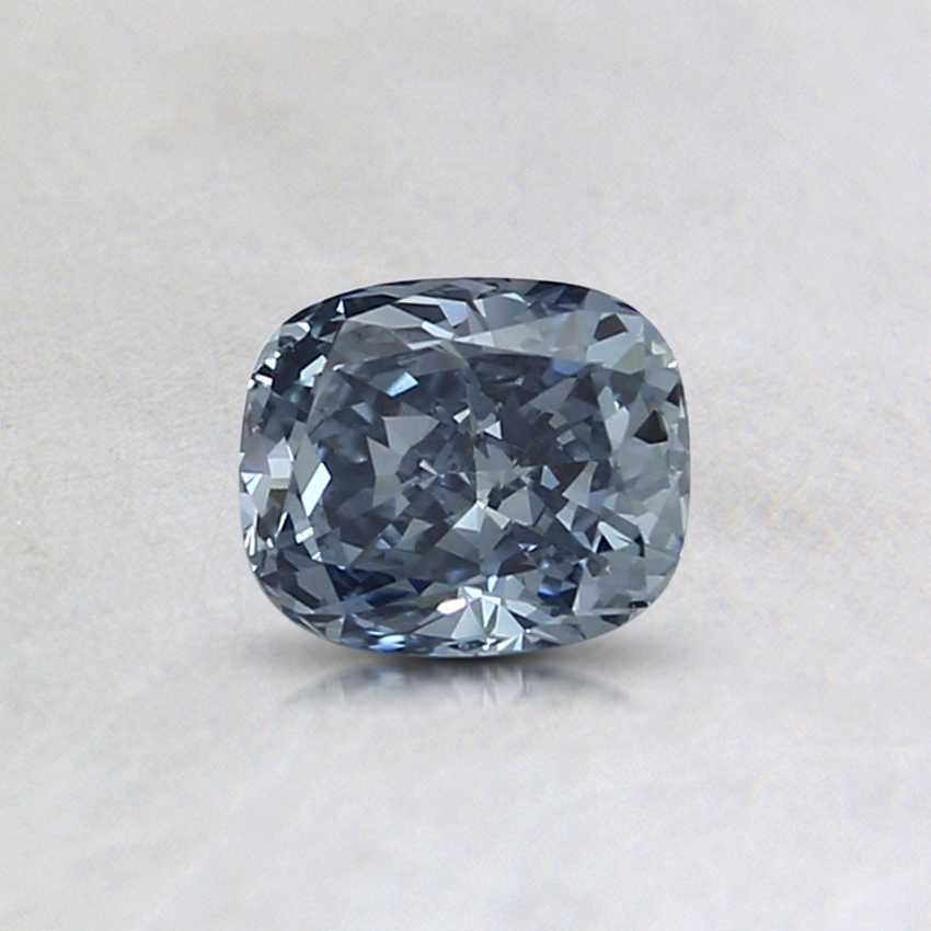 0.42 Ct. Fancy Intense Blue Cushion Lab Created Diamond
