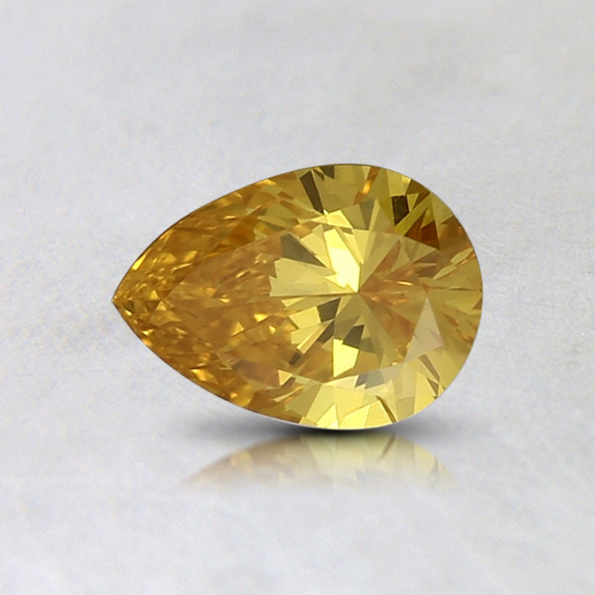 0.42 Ct. Fancy Intense Orange-Yellow Pear Lab Created Diamond