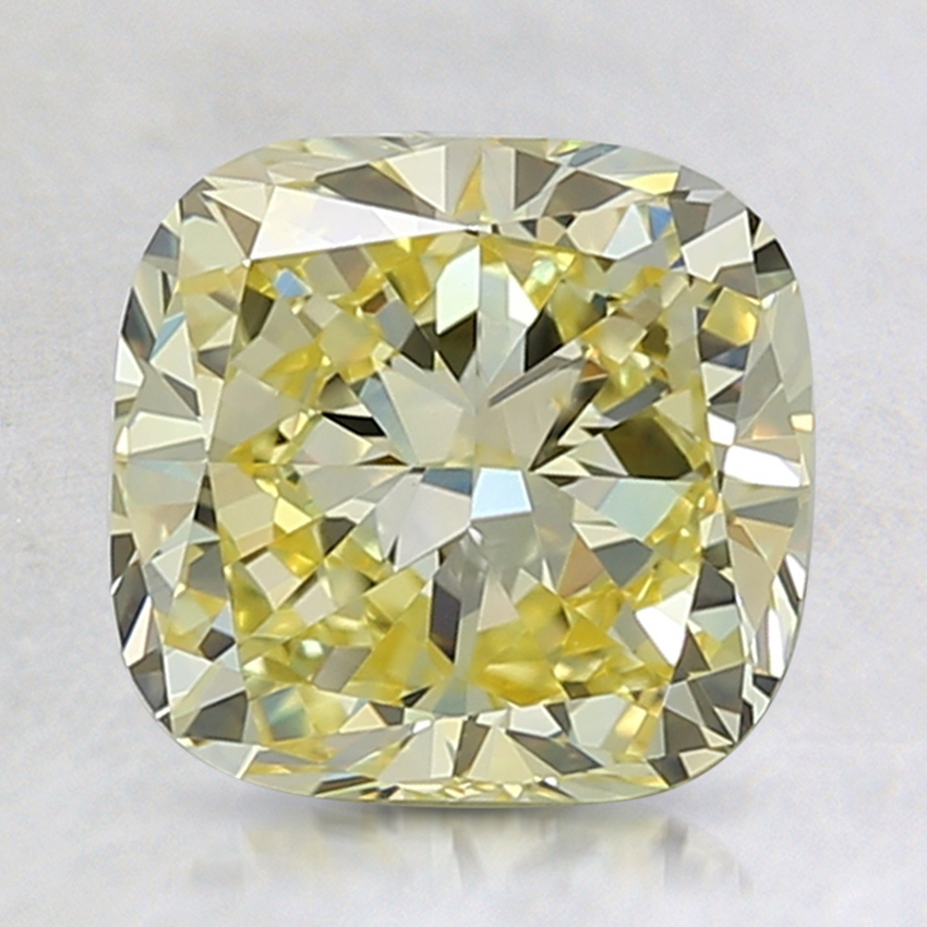 2.37 Ct. Fancy Intense Yellow Cushion Lab Created Diamond