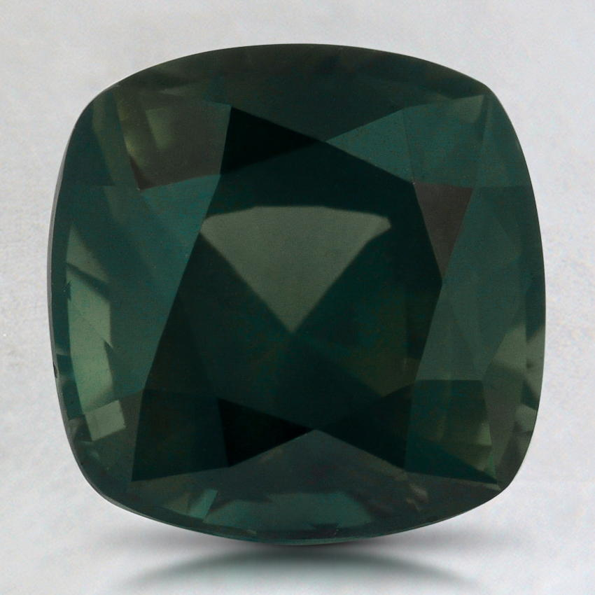 8.5mm Premium Green Cushion Sapphire, top view
