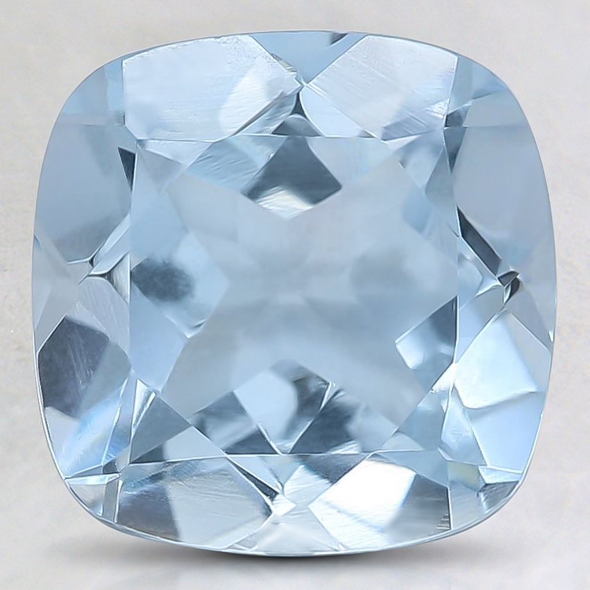 9mm Fine Cushion Aquamarine
