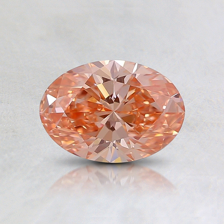 0.52 Ct. Fancy Intense Orangy Pink Oval Lab Created Diamond