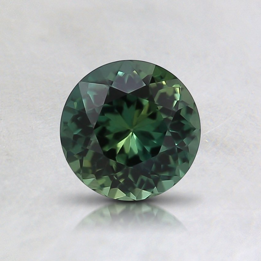 5.4mm Unheated Teal Round Sapphire