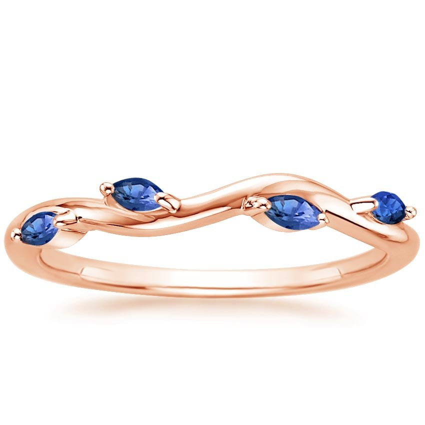 Rose Gold Winding Willow Sapphire Ring