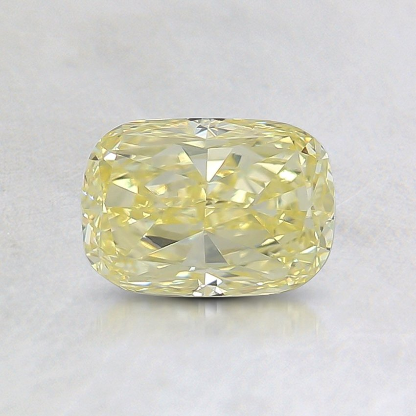 0.85 Ct. Fancy Yellow Cushion Diamond