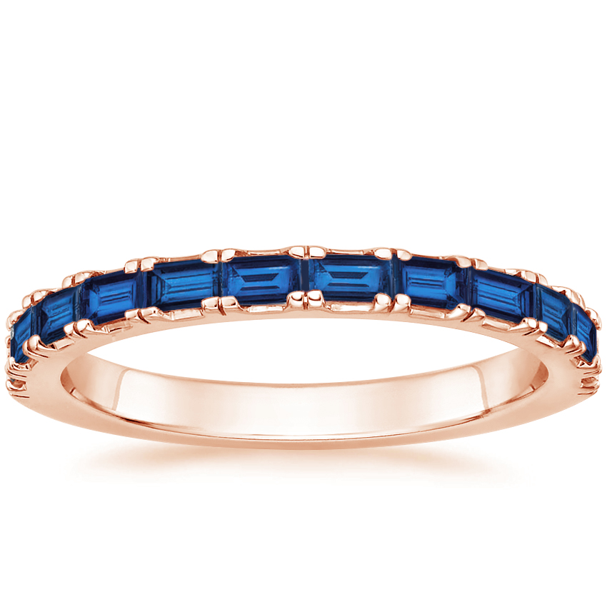 Rose Gold Gemma Ring with Sapphire Accents