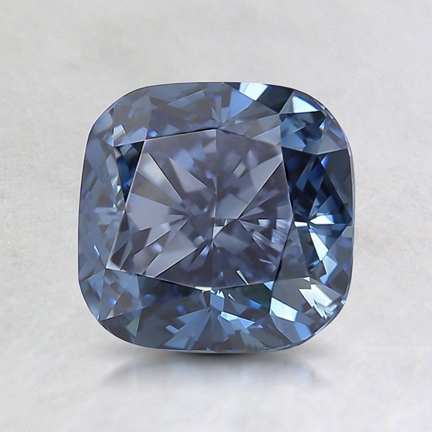 1.70 Ct. Lab Created Fancy Deep Blue Cushion  Diamond