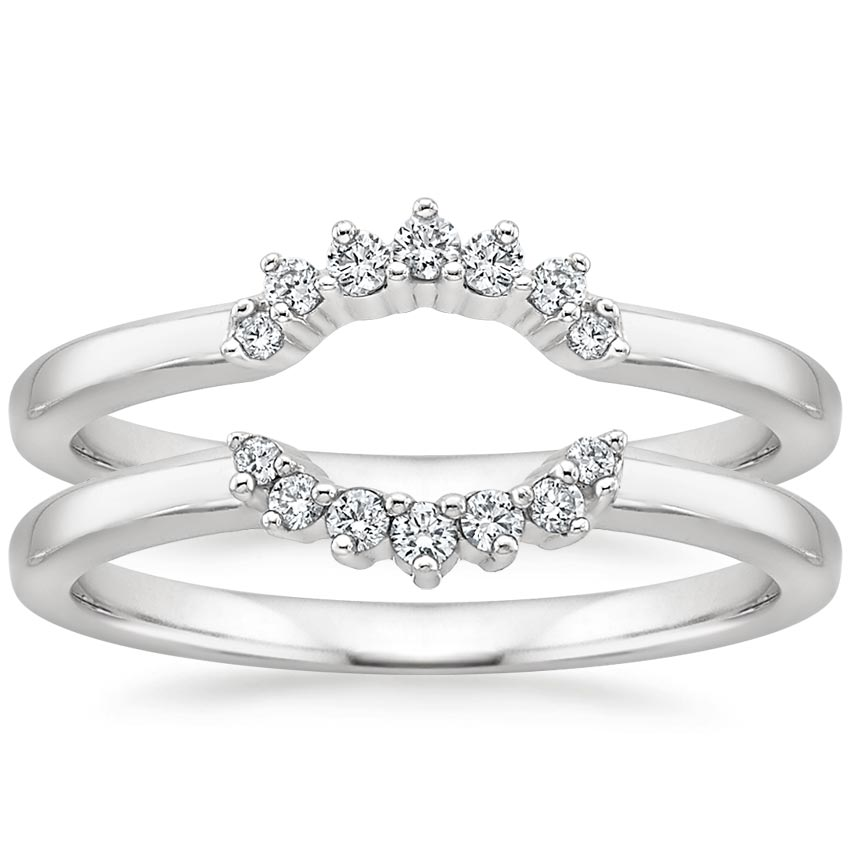 Crescent Nested Diamond Ring Stack
