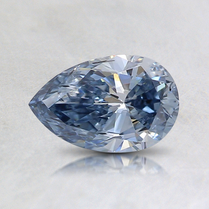 0.67 Ct. Fancy Intense Blue Pear Lab Created Diamond