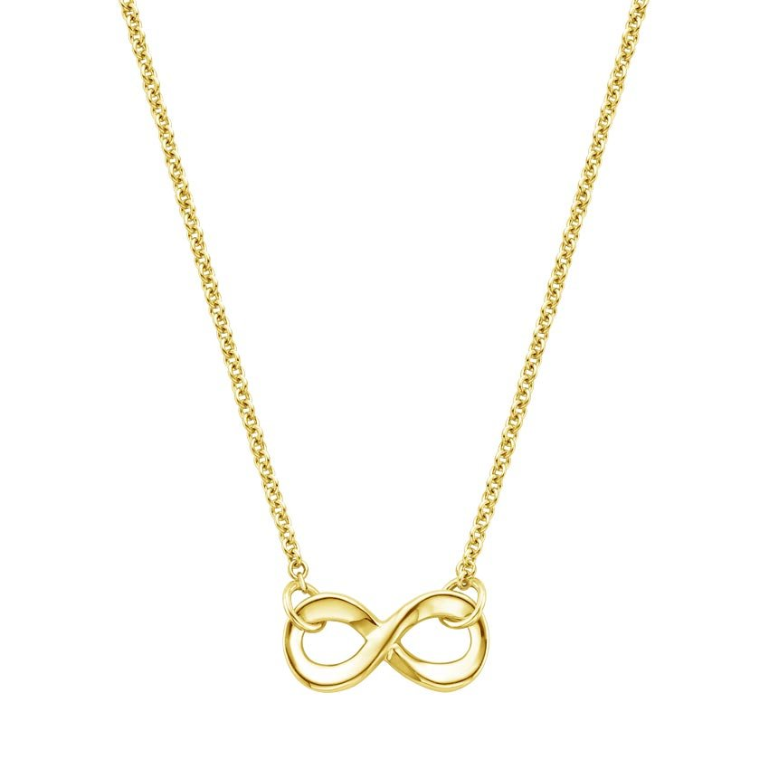 18K Yellow Gold Infinity Pendant, top view