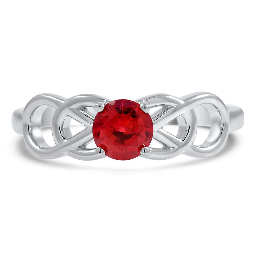 Custom Ruby Knot Ring