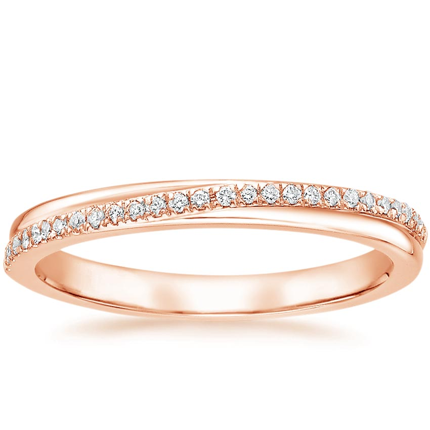 Rose Gold Symphony Diamond Ring