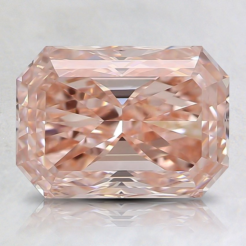 2.01 Ct. Fancy Intense Orangy Pink Radiant Lab Created Diamond