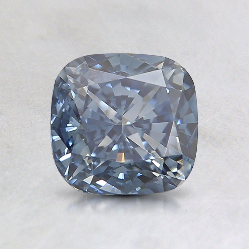 1.17 Ct. Fancy Intense Blue Cushion Lab Created Diamond