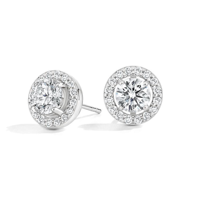 Lab Diamond Halo Stud Earrings