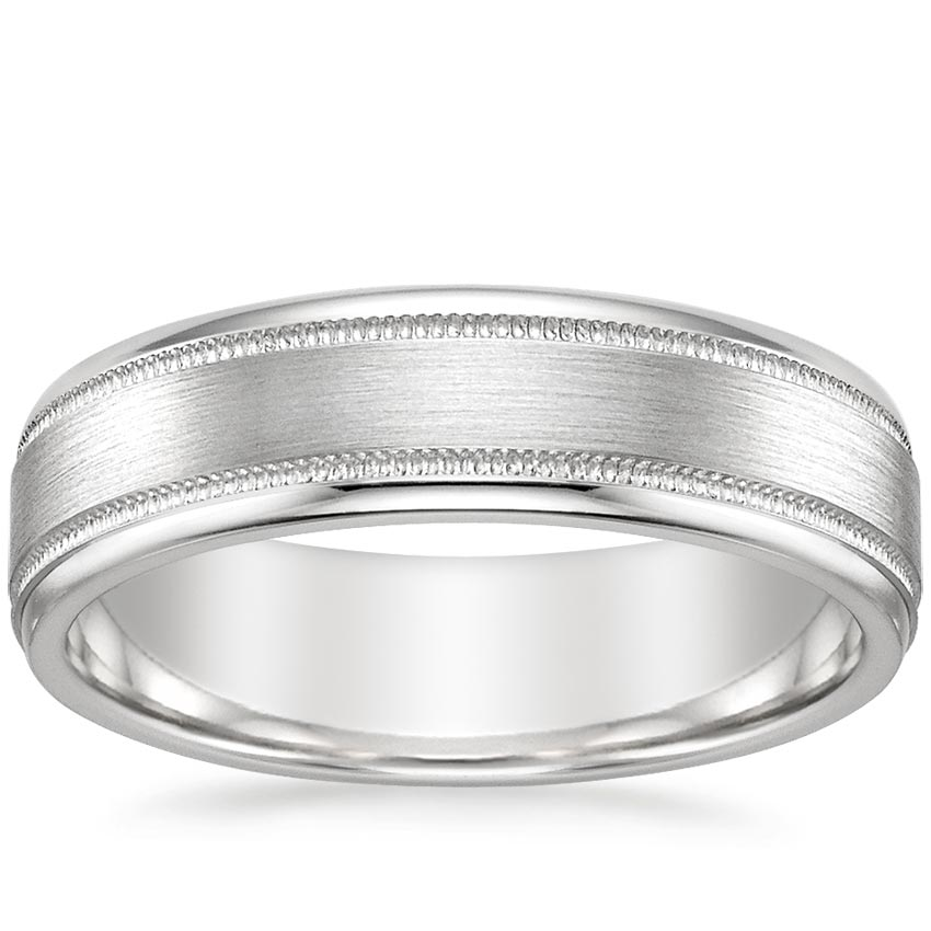 betteridge band platinum milgrain wedding bands