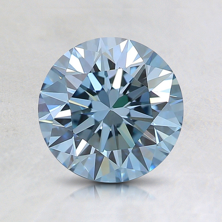 1.06 Ct. Fancy Bluish Green Round Lab Created Diamond