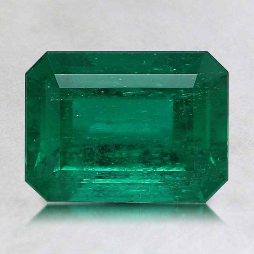 8.1X6.1mm Premium Green Emerald, top view