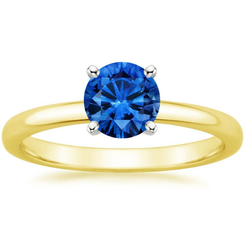 Top Twenty Sapphire Rings - SAPPHIRE 2MM COMFORT FIT RING