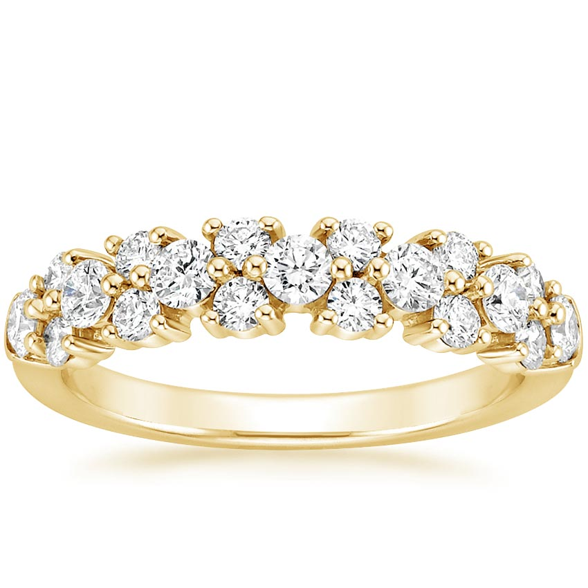 Yellow Gold Luxe Cluster Diamond Ring
