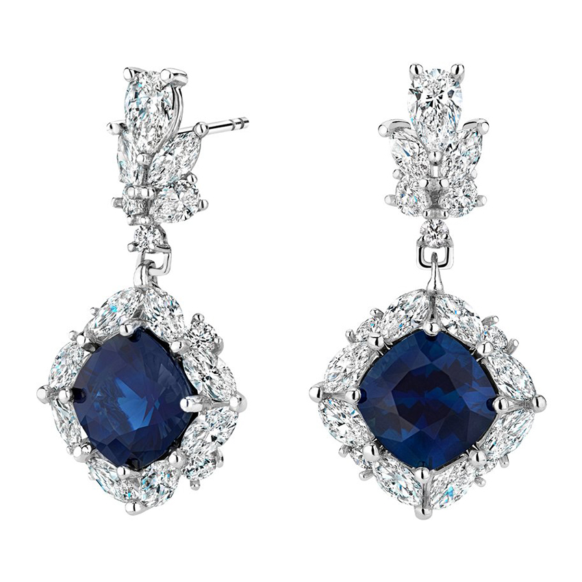 Stella Sapphire and Diamond Earrings (2 1/3 ct. tw.) in Platinum