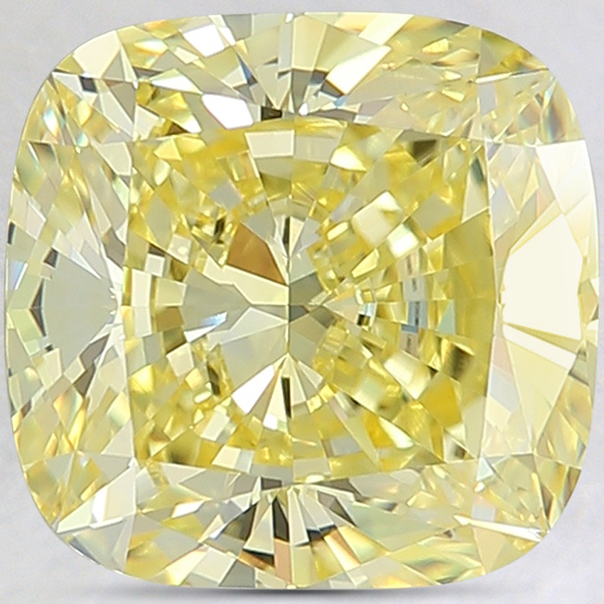 4.15 Ct. Fancy Intense Yellow Cushion Lab Created Diamond
