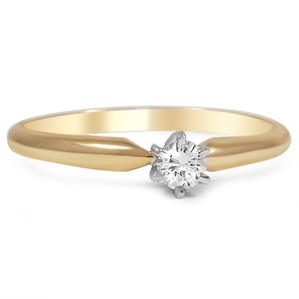 The Edith Engagement Ring, top view