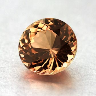 6.3mm Unheated Orange Round Sapphire