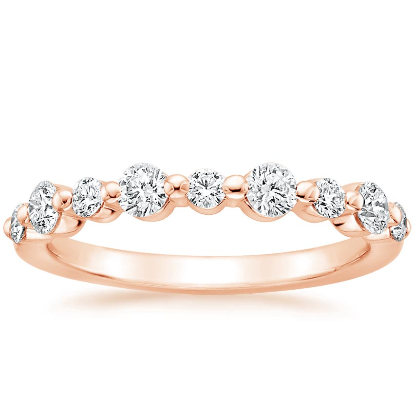 Rose Gold Bordeaux Diamond Ring (1/2 ct. tw.)