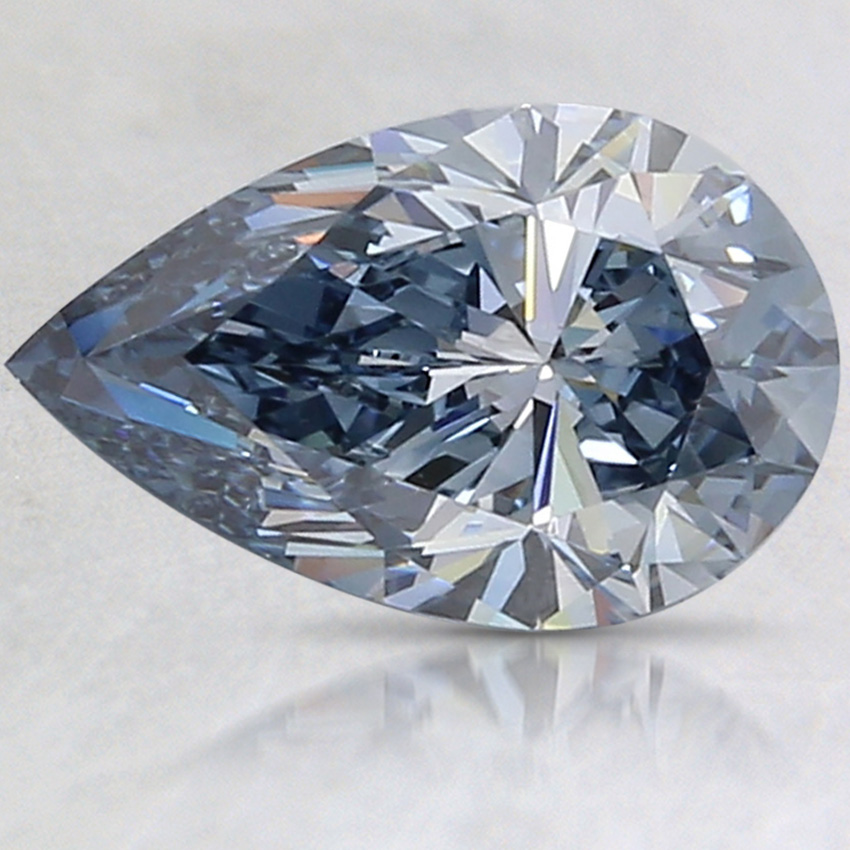 1.62 Ct. Fancy Intense Blue Pear Lab Created Diamond