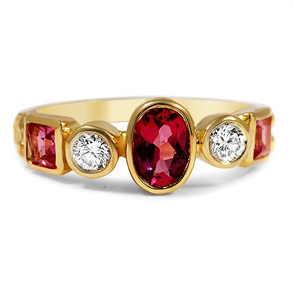The Seraphine Ring, top view